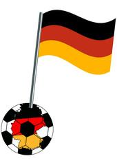 Fußball - Design mit Landesflagge im Fußball. Vektor Datei, Eps 10