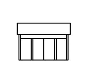 店舗(線画)