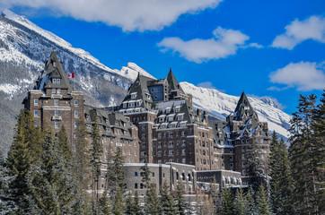 Historic Banff Springs Hotel in Banff, Canada