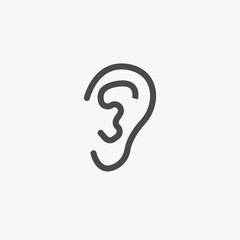 Human ear vector icon