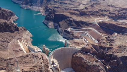 The Hoover Dam, between Nevada and Arizona, USA Papier Peint