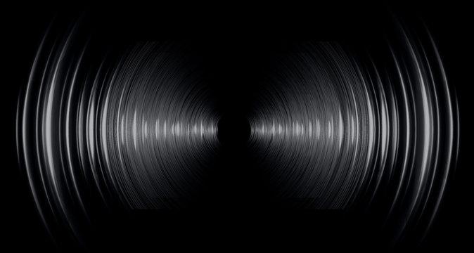 Sound waves oscillating dark blue light, Abstract technology background. Vector. loudspeaker