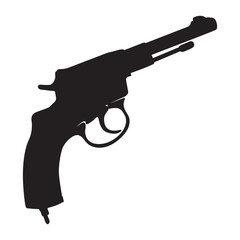Vector image of the revolver
