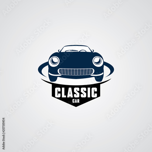Classic Car Logo Design Template Stock Image And Royalty Free