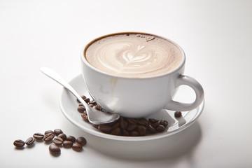 latte art of hot coffee