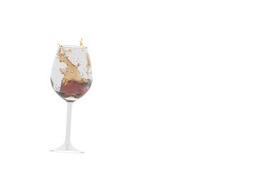 glass of white wine, 3d illustration