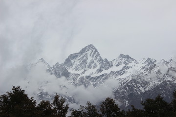 heavy clouds with snow