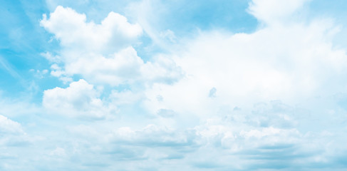 blue sky with tiny clouds. environment concept