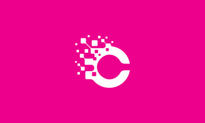 C digital initial logo