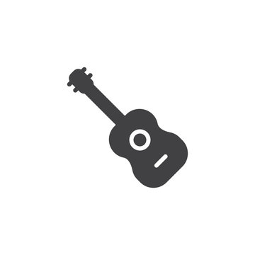 Acoustic guitar vector icon. filled flat sign for mobile concept and web design. Music instrument simple solid icon. Symbol, logo illustration. Pixel perfect vector graphics