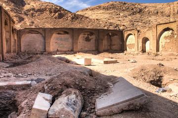Old Christian cemetery in Kerman, Iran.
