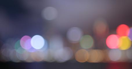 Blur of Hong Kong city at night
