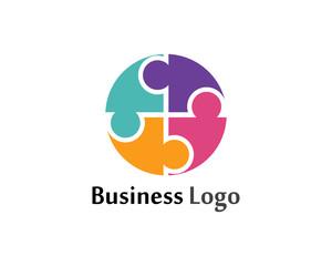 Community social network symbols logo vector template