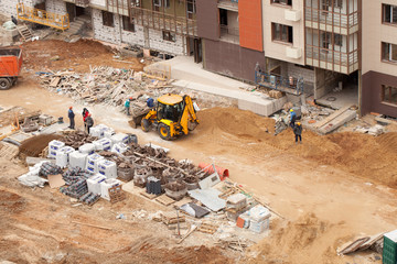 Use of the excavator in construction
