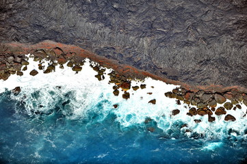 USA. Lava coast of the Big Island, Hawaii