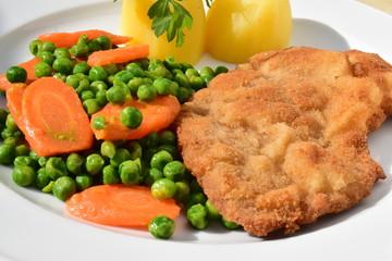 Wiener Schnitzel mit Gemüse