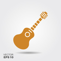 Acoustic guitar sign icon