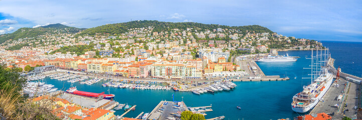 Foto op Canvas Nice Panorama - Port of Nice, France