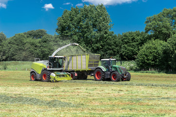 Farm machines at the hay harvest     8897