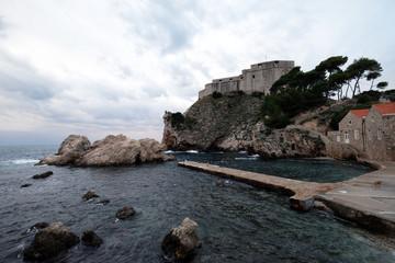 Photo sur Plexiglas Fortification Fort Lovrijenac or St. Lawrence Fortress in Dubrovnik, Croatia