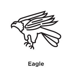 Eagle icon vector sign and symbol isolated on white background, Eagle logo concept