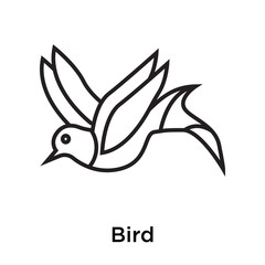 Bird icon vector sign and symbol isolated on white background, Bird logo concept