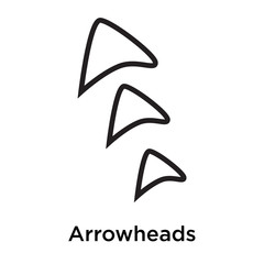 Arrowheads icon vector sign and symbol isolated on white background, Arrowheads logo concept
