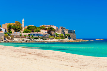 Beach and Coastline of Algajola, Corsica, France