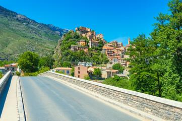 Bridge towards the Village of Corte, Corsica, France