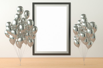 balloons with poster