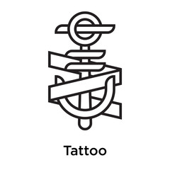 Tattoo icon vector sign and symbol isolated on white background, Tattoo logo concept