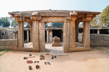 Underground Siva Temple, Ancient ruins in Hampi, India