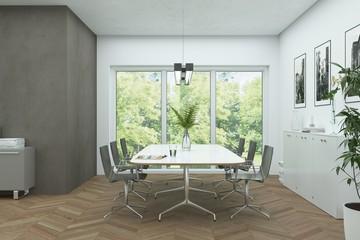 modern bright skandinavian interior design diining room
