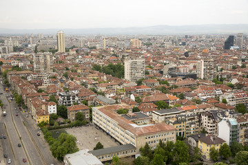 Aerial view of Sofia, Bulgaria