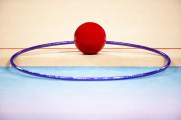 Rhythmic Gymnastics ball and hoop