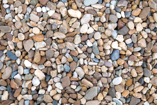 Small stones gravel texture background,decoration in the gardening