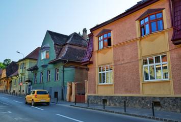 Building architecture in Brasov, Romania