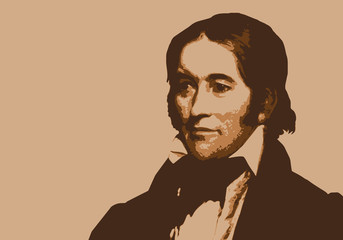 Davy Crockett - portrait - trappeur - personnage historique - américain - personnage célèbre - héros