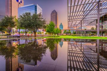 Wall Mural - Dallas, Texas Cityscape and Plaza
