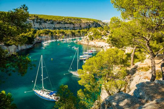Calanque de Port Miou - fjord near Cassis Village, Provence, France