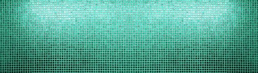Green tiles pattern Wall mural