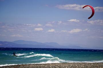 Kitesurfen vor Kos