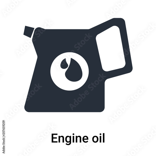 Engine Oil Icon Vector Sign And Symbol Isolated On White Background