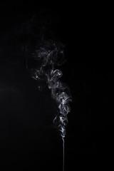 Swirl of burning aroma stick