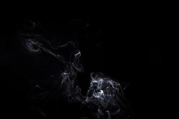 Smoky waves of burning aroma stick