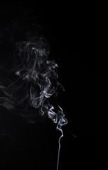 Isolated smoky waves of burning aroma stick