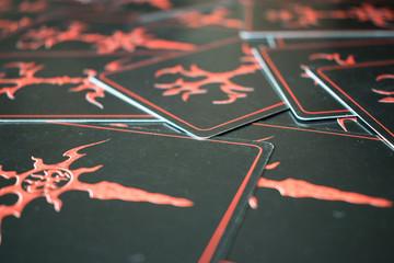 Dark tarot cards.
