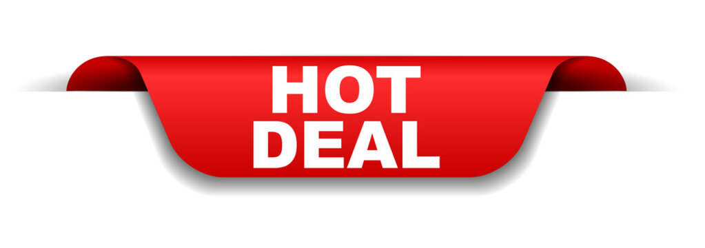 red banner hot deal