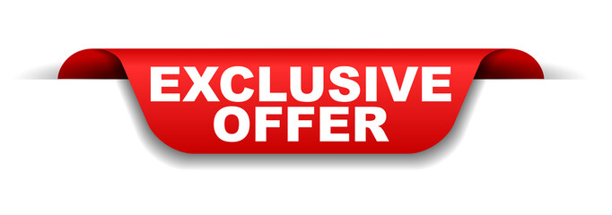 red banner exclusive offer