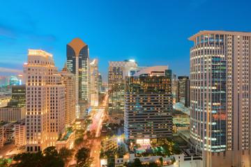 Bangkok modern office buildings, condominium in Bangkok city